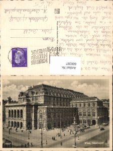 600397,Foto Ak Wien Vienna Staatsoper Oper Uhr