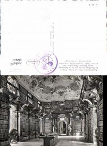 600412,Foto Ak Bibliothek Benediktinerstift Stift Melk Globus