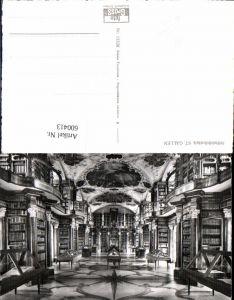 600413,Foto Ak Bibliothek Stiftsbibliothek St Gallen