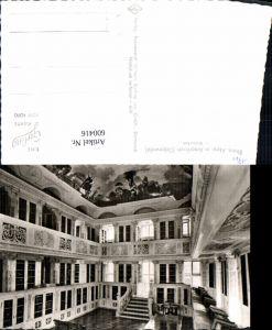 600416,Foto Ak Bibliothek Abtei Amorbach Odenwald