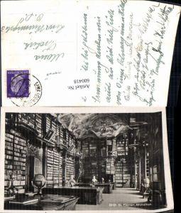 600418,Foto Ak Bibliothek Stift St Florian Globus