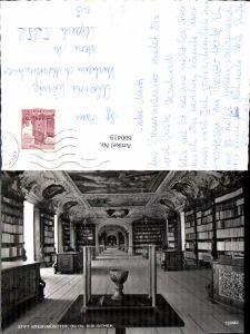 600419,Foto Ak Bibliothek Stift Kremsmünster