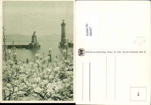 600427,Leuchtturm Lindau i. Bodensee Hafeneinfahrt Löwendenkmal pub SOS Kinderdorf 1/56