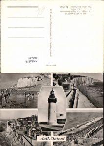 600429,Mehrbild Ak Leuchtturm Ault-Onival La Plage La Digue-Promenade Le Phare
