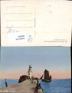 600430,Leuchtturm Les Sables- D Olonne Vendee La Jetee des Sables Segelboot