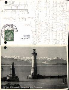 600431,Leuchtturm Lindau i. Bodensee Hafenausfahrt Scesaplana Drei Schwestern