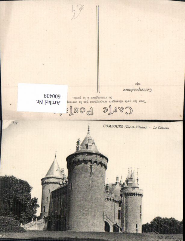 600439,Combourg Ille-et-Vilaine Le Chateau Schloss France