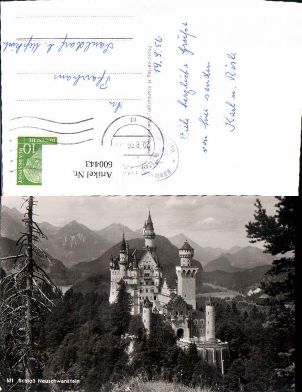 600443,Foto Ak Schloss Neuschwanstein Schwangau