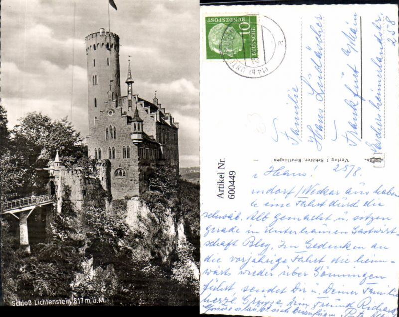 600449,Foto Ak Schloss Lichtenstein