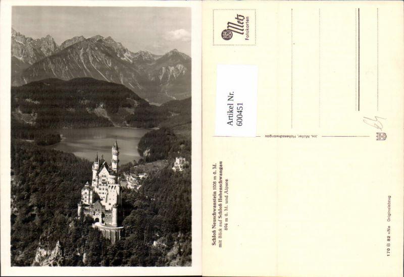 600451,Schloss Neuschwanstein m. Schloss Hohenschwangau Schwangau