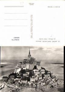 600463,Foto Ak Le Mont Saint-Michel Manche vu d Avion Cote Sud-Est Kirche