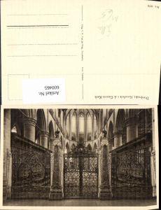 600465,Dordrecht Koorhek i. d. Groote Kerk Kirche Innen Gitter