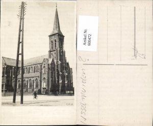 600472,Foto Ak Kirche Mann a. Fahrrad Rad