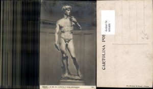 600488,Firenze Florenz David Statue v. Michelangiolo pub Ed. Montinari & Albucci 372