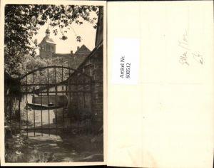 600512,Foto Ak Eisentor Tor Gitter Blick auf Kirche