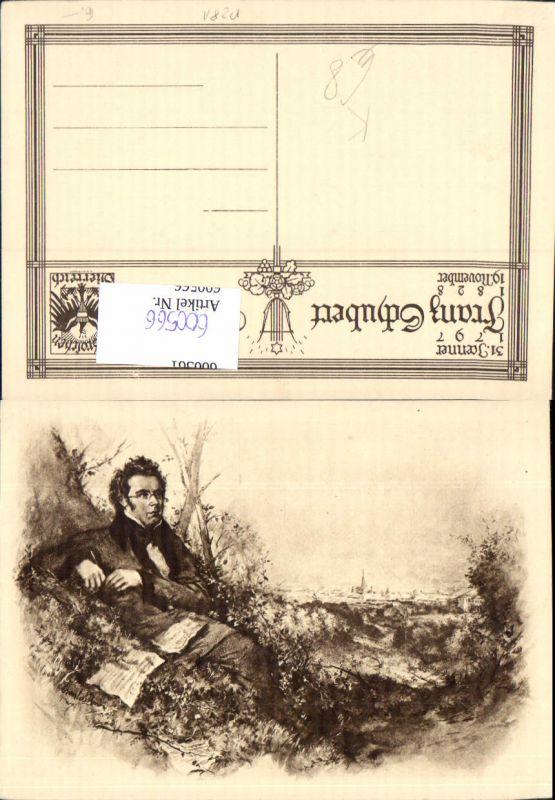 600566,Künstler Ak Komponist Franz Schubert 0