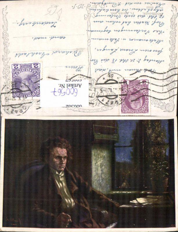 600567,Künstler Ak Fr. Ulreich Komponist Ludwig v. Beethoven pub B.K.W.I. 910/2 0