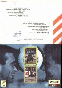 600570,Sportler Jörg Ahmann u. Axel Hager Beachvolleyball Sport Autogrammkarte