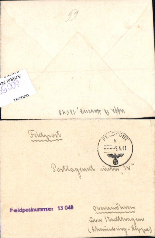 600596,Feldpost WK2 13048 nach Obernwöhren Stadthagen Schaumburg Lippe