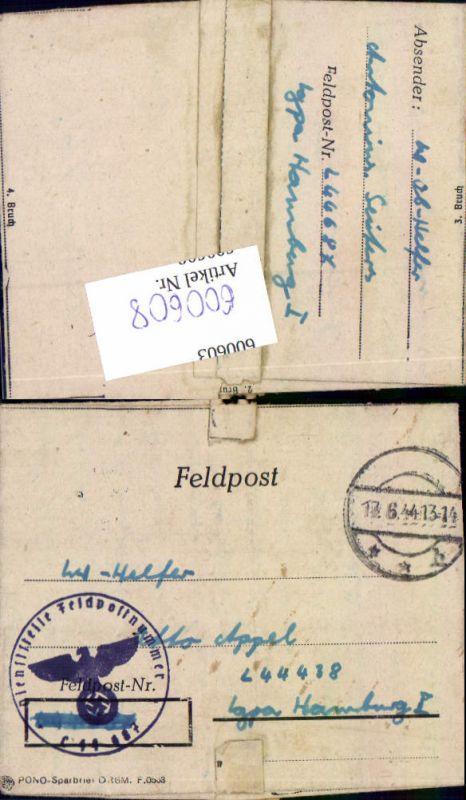 600608,Feldpost WK2 L 44687 nach Hamburg