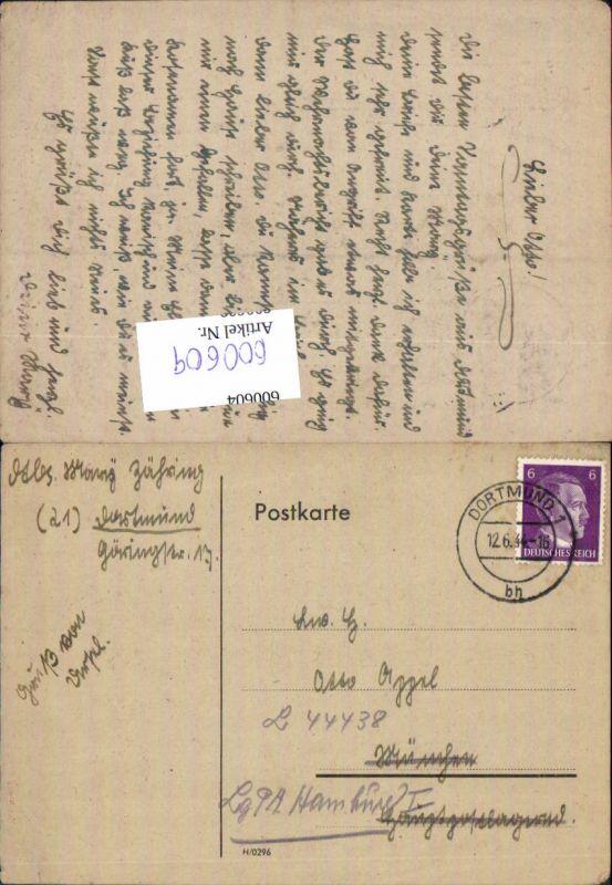 600609,Feldpost WK2 Dortmund n. Hamburg Luftgau Postamt L 44438
