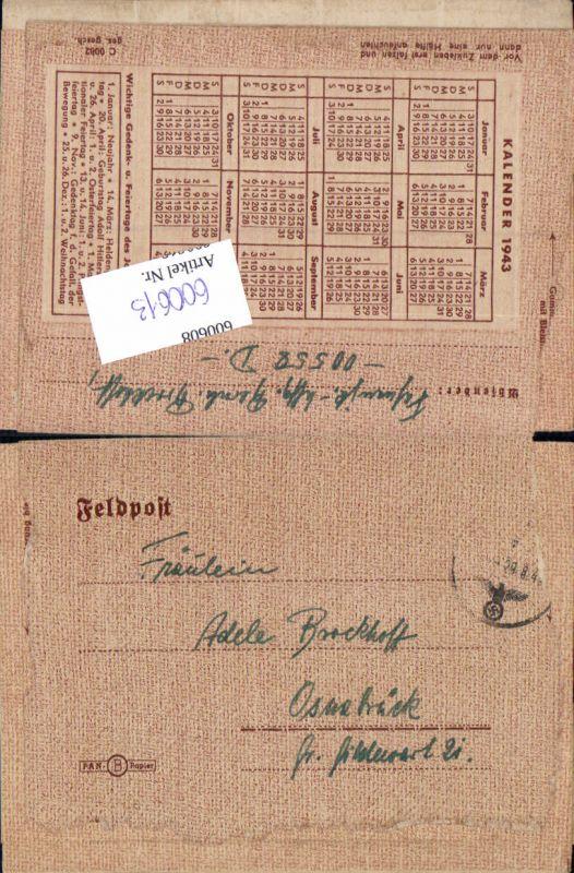 600613,Feldpost WK2 00558 n. Osnabrück