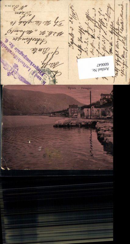 600647,Perzagno Kotor Cattaro Prcanj Feldpost K. u. K. Luftschifferabteilung Fliegerkompagnie