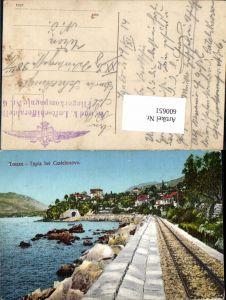 600651,Topla Castelnouvo Herceg Novi Feldpost K. u. K. Luftschifferabteilung Fliegerkompagnie