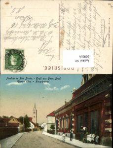 600656,Bos. Broda Bosnisch Brod Geschäft Wilhelm Goldstein Feldpost Militär. Post. Militärpost Bos. Brod