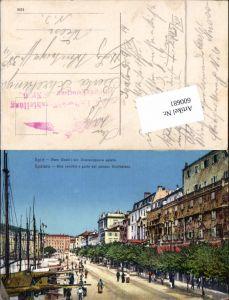 600681,Split Spalato Stara Obala Feldpost K. u. K. Luftschifferabteilung Fliegerkompagnie