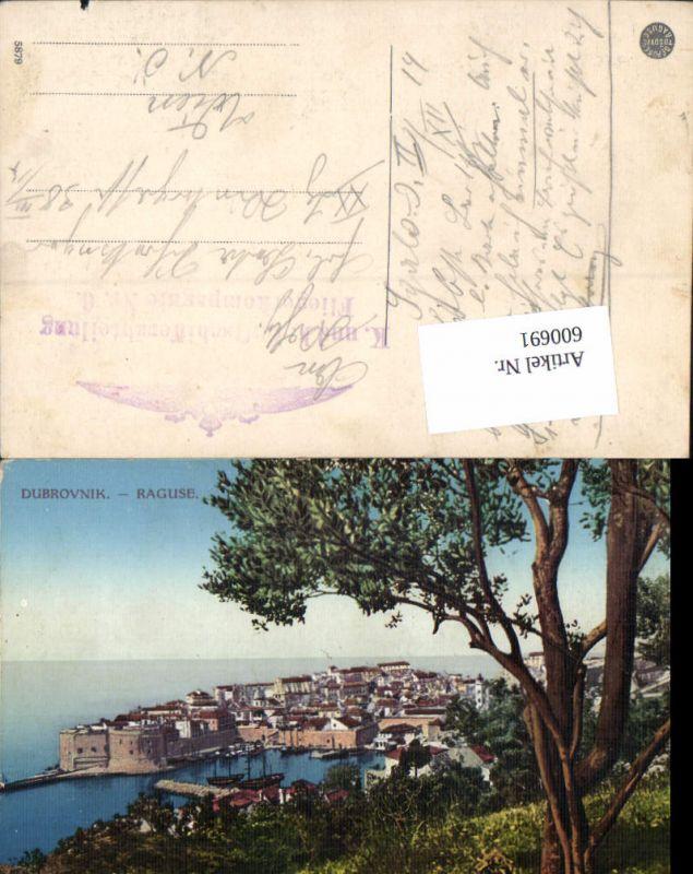 600691,Dubrovnik Ragusa Feldpost K. u. K. Luftschifferabteilung Fliegerkompagnie