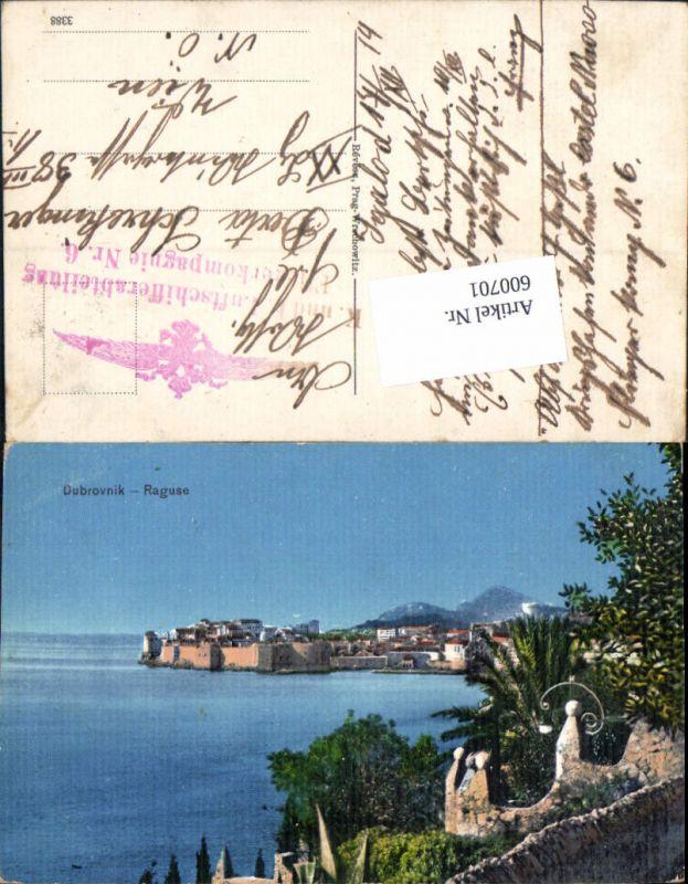 600701,Dubrovnik Ragusa Feldpost K. u. K. Luftschifferabteilung Fliegerkompagnie