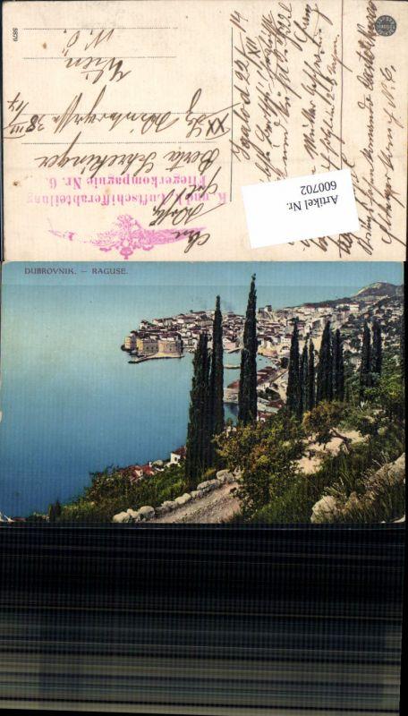 600702,Dubrovnik Ragusa Feldpost K. u. K. Luftschifferabteilung Fliegerkompagnie