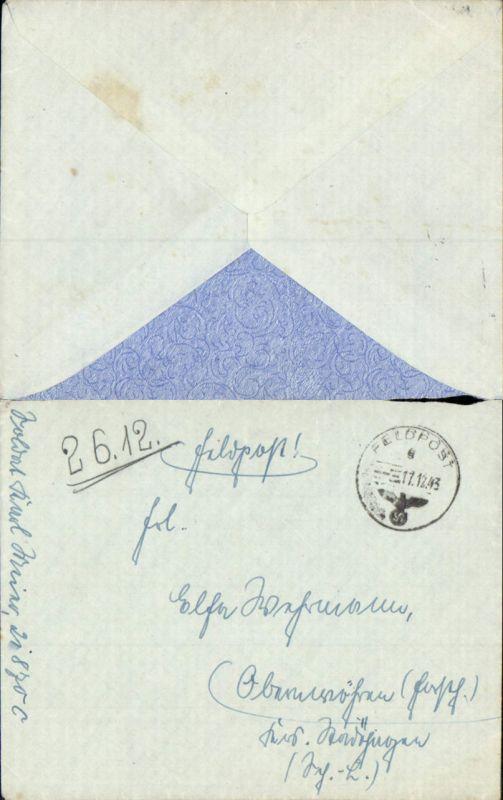 602658,WK 2 Feldpost 21870 C n. Obernwöhren Stadthagen Schaumburg Lippe