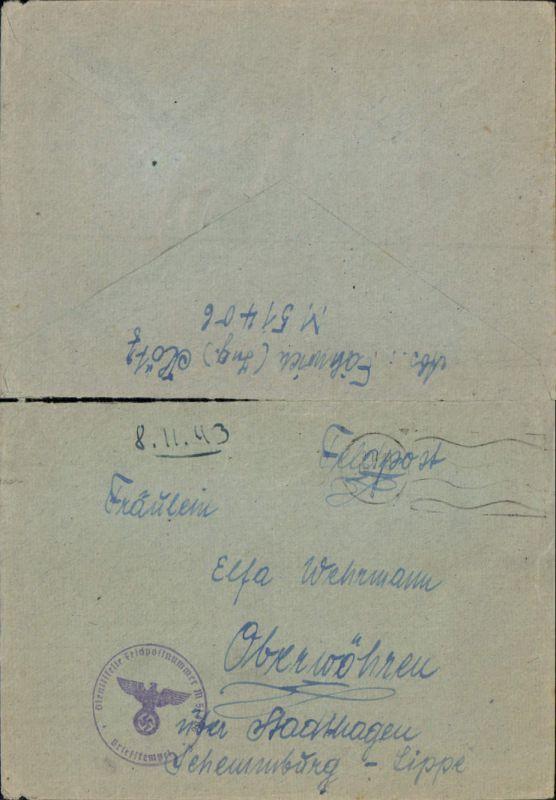 602660,WK 2 Feldpost M 51406 Marine Kriegsmarine 21. Minensuch-Flottille M 362 Tarnstempel