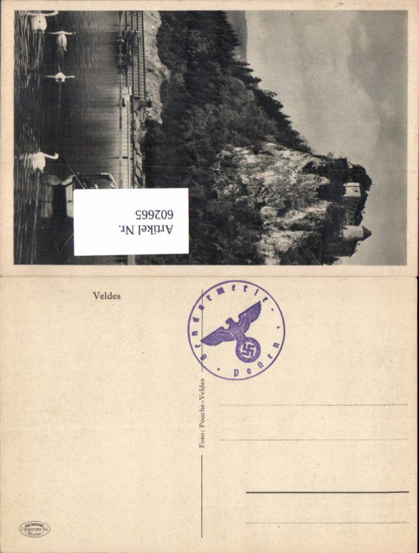 602665,WK 2 Feldpost SS-Gendarmerie Posten Veldes Stempel