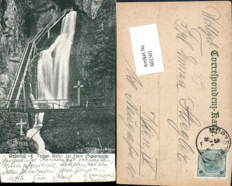 601501,Frein an der Mürz Mürzsteg Wasserfall Todten Weib