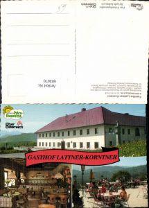 603670,Mehrbild Ak Nußbach Gasthof Lattner-Korntner Gastgarten