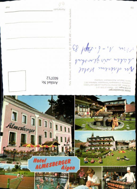 603712,Mehrbild Ak Aigen Hotel Almesberger Schwimmbad Tennis