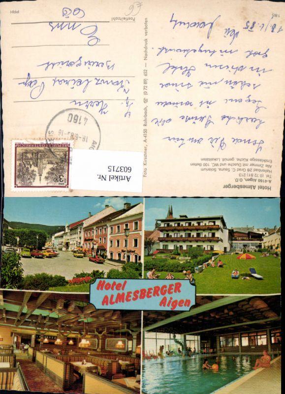 603715,Mehrbild Ak Aigen Hotel Almesberger Schwimmbad
