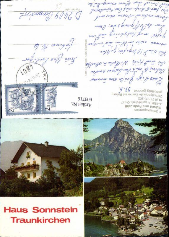 603716,Mehrbild Ak Traunkirchen Haus Sonnstein