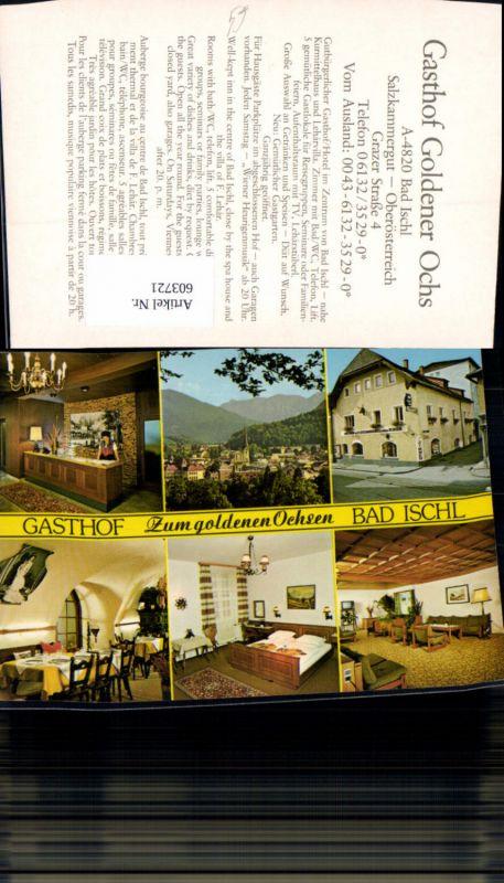 603721,Mehrbild Ak Bad Ischl Gasthof Zum goldenen Ochsen