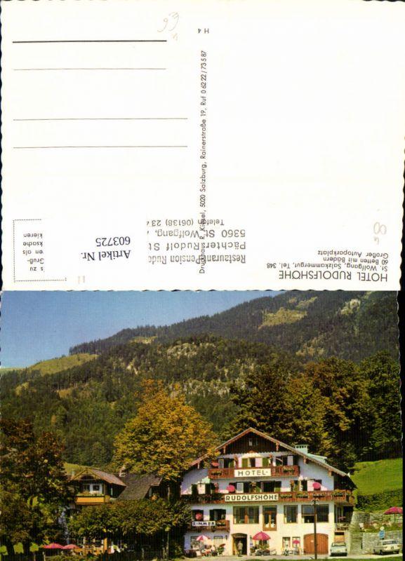 603725,St Wolfgang i. Salzkammergut Hotel Rudolfshöhe