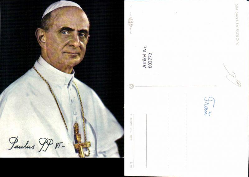 603772,Papst Paulus VI Sua Santita Paolo VI Religion