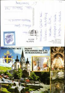 603774,Mehrbild Ak Begegnung Papst Johannes Paul II Mariazell 1983 Gnadenbild Religion