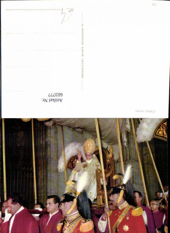603777,Corteo Papale Papst m. Sänfte getragen Religion