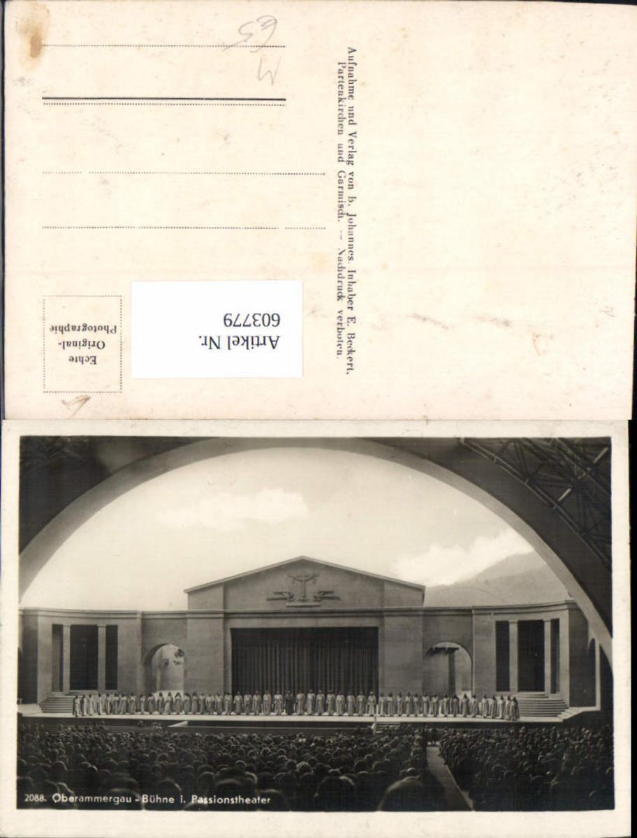 603779,Oberammergau Bühne i. Passionstheater Passionsspiel Religion
