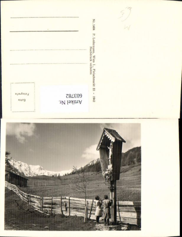 603782,Foto Ak Wegkreuz Bildstock Flurkreuz Religion