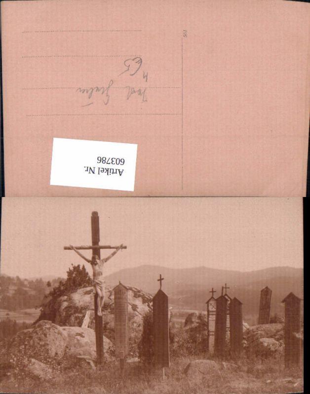 603786,Kreuz Flurkreuz Gräber Friedhof Tod Gräber Religion
