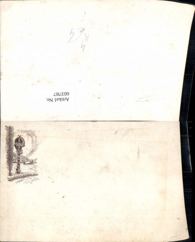 603787,Künstler Ak Flurkreuz Bildstock Flurkreuz Religion